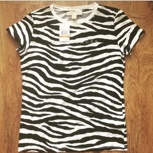 Michael Kors Zebra Stripped Shirt
